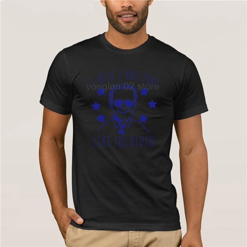 Camiseta de moda de verano 2020, Camiseta 100% de algodón para hombres, camiseta divertida de Joe Biden, camiseta política de Humor