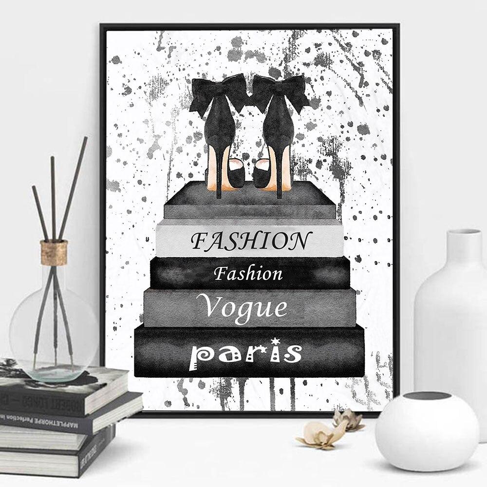 Arte de pared, decoración del hogar, libro de moda, trabajo en el libro, pinturas en lienzo de moda, cuadros, impresión en HD nórdica, póster Modular para sala de estar