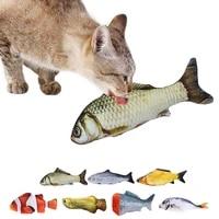 fish shape cat toy bite resistant kitten chew toy catnip pet toy kitten teething toy cat interactive toy pet training toy