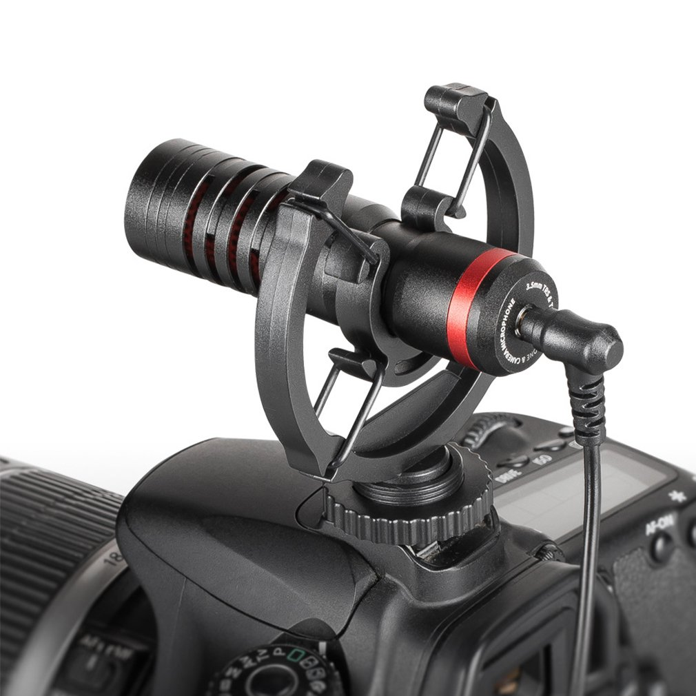 RE150 Microphone Wireless Metal Video Mic 3.5mm for Xiaomi Smartphone Canon Nikon Sony DSLR Camera Consumer Camcorder