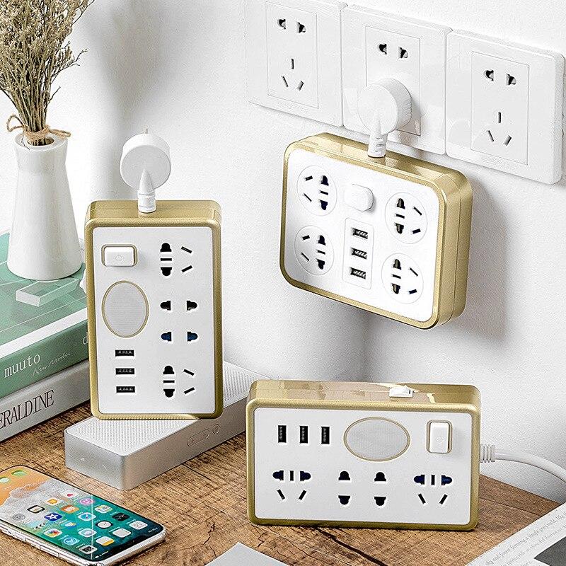 Adaptador de enchufe de pared multifuncional creativo de escalada con luz nocturna USB carga rápida inteligente una vuelta Multi-fila de potencia