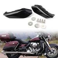 2x matte black motorcycle heat shield mid frame air deflector trim for harley street glide flhtcu flhtcul fltru flhtk 2009 2016