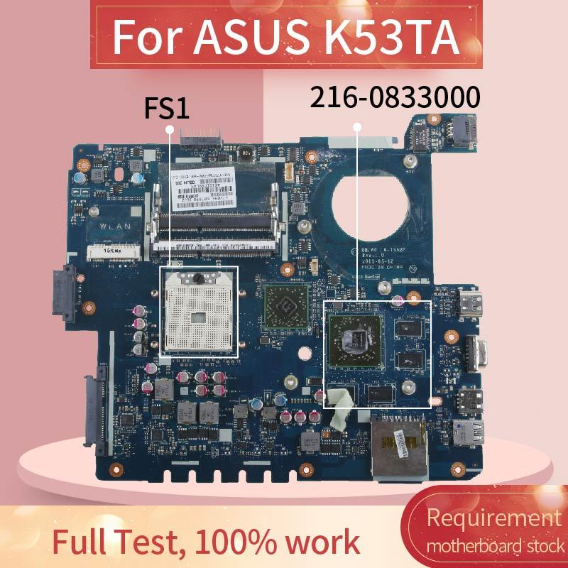 Placa base de Computadora Portátil para ASUS K53TA K53TA X53T K53T placa madre del cuaderno LA-7552P 216-0833000 DDR3