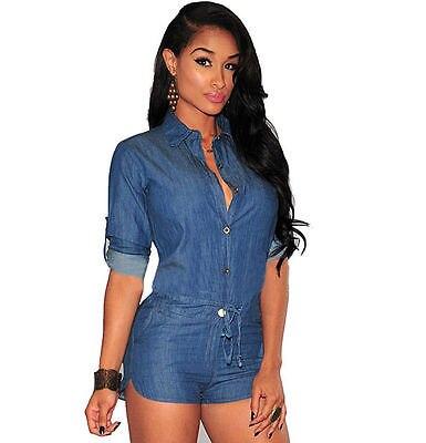 Сексуальный женский облегающий джинсовый комбинезон с шортами, комбинезон, комбинезон, джинсовый комбинезон