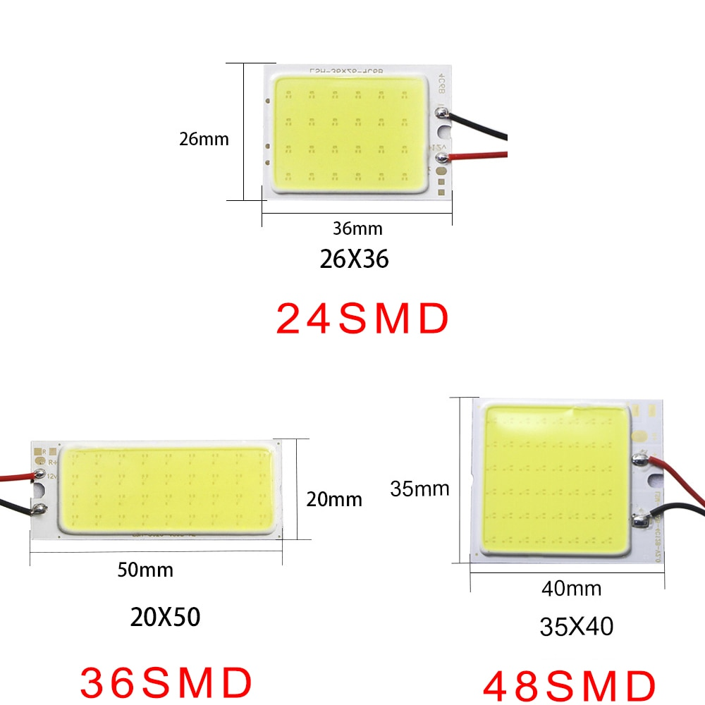 2@# White License Plate Lamp Dome Light White Festoon Vehicle Panel Lamp High Quality LED Car Accessory COB 18 24 36 48Smd T10