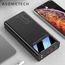 Внешний аккумулятор 30000 мАч, светодиодный дисплей, портативный внешний аккумулятор TypeC Micro USB, зарядное устройство для телефона и планшета