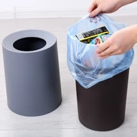 large capacity round double layer trash can office bedroom living room storage box household uncovered trash can