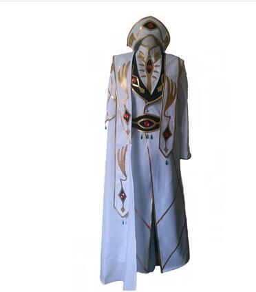 Nuevo Código de Arrivel Geass Lelouch de la Revolución traje de Cosplay del emperador conjunto completo 6/lote con sombrero
