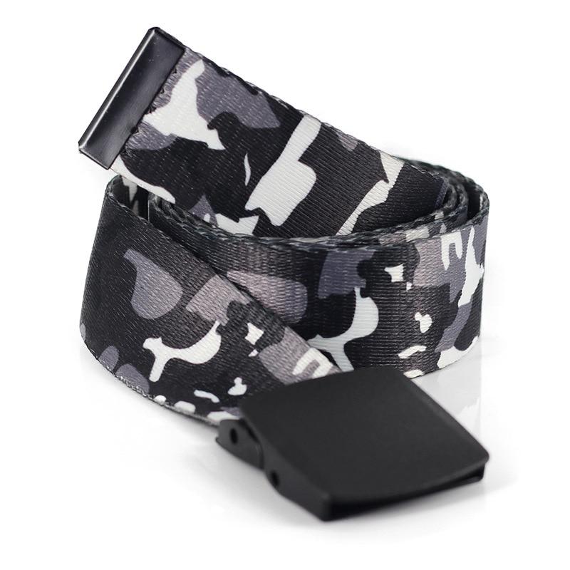 Принтгом в виде камуфляжной холст ремень с металлической пряжкой для мужчин, подчеркивающие женскую индивидуальность, модные армейские ве...