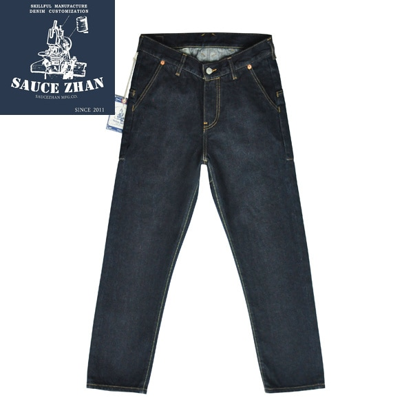 SauceZhan JF03 Jeans para hombre, pantalones vaqueros ceñidos selvage, Jeans azules para hombre, dénim Jeans lavados para hombre, marca Slim Jeans para hombre