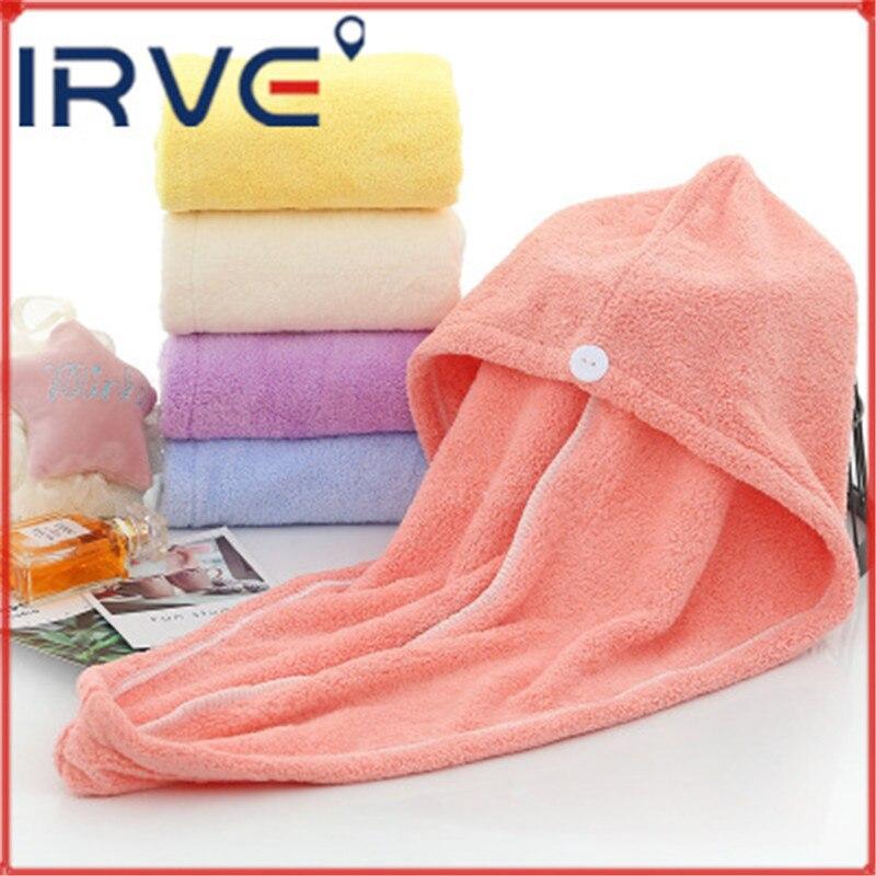 Toallas para mujeres de terciopelo Coral blando, toalla de microfibra para el cabello, envoltura de secado de cabello para ducha, gorro de secado rápido para niñas, gorro para el cabello, toallas de baño para envolver la cabeza