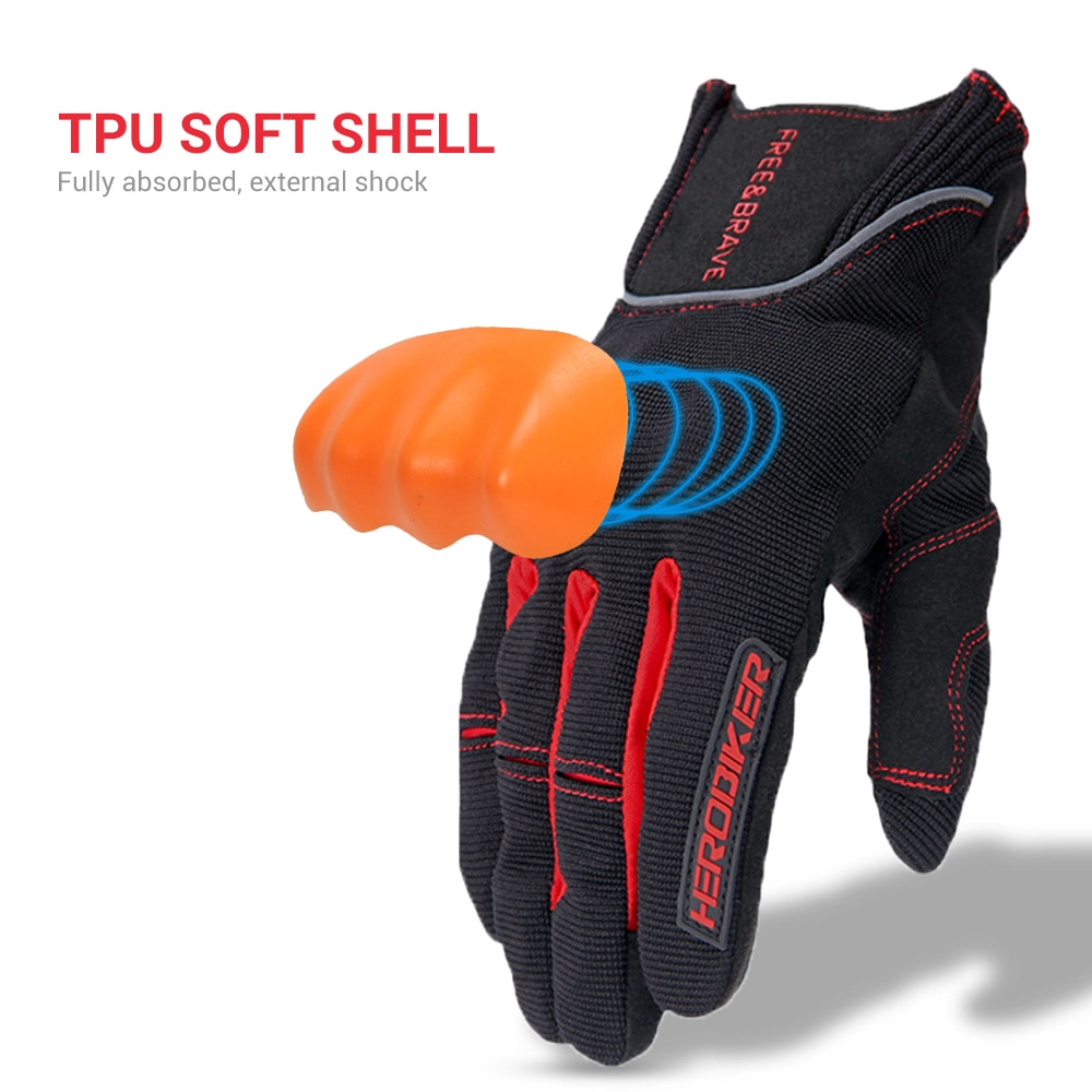 Motorcycle Gloves Protective Gear Motorbike Riding Mesh Gloves Full Finger Men Breathable Motocross Gloves Touch Function enlarge