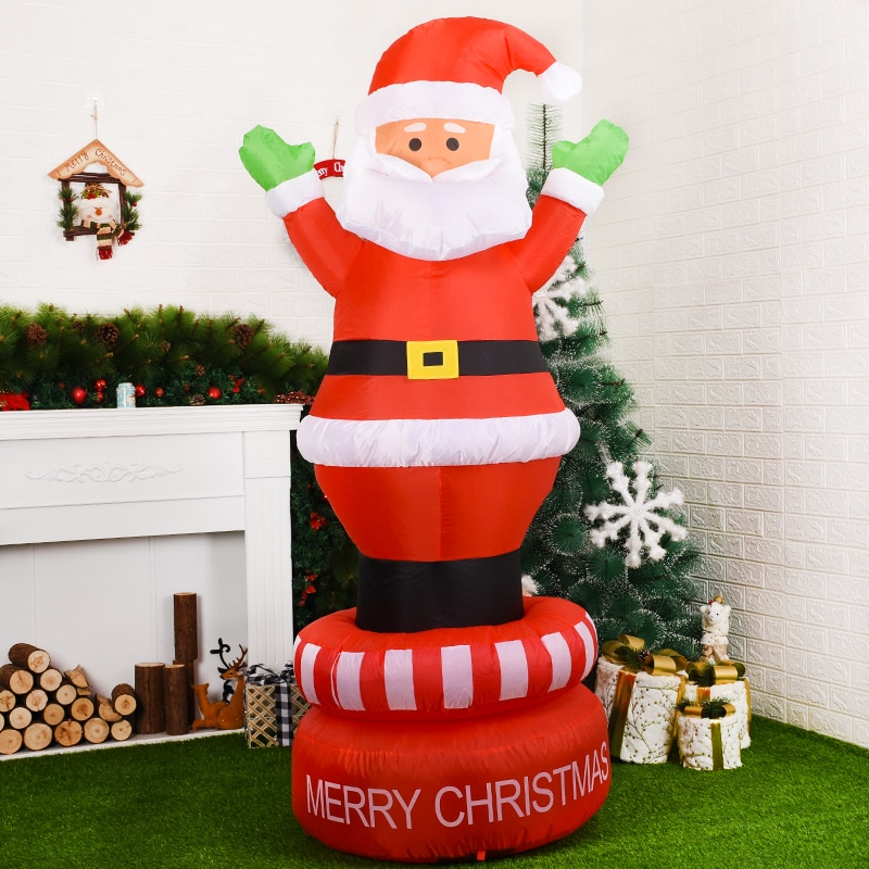 360 Degree  Rotation Inflatable Santa Claus Outdoors Christmas Decorations for Home Yard Garden Decoration Merry Christmas enlarge