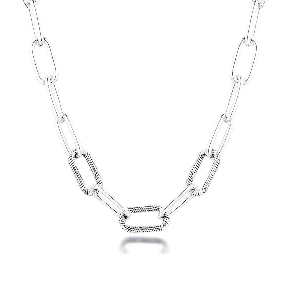 Me Link-قلادة من الفضة الإسترليني للنساء ، مجوهرات للحفلات ، قلادات متدلية