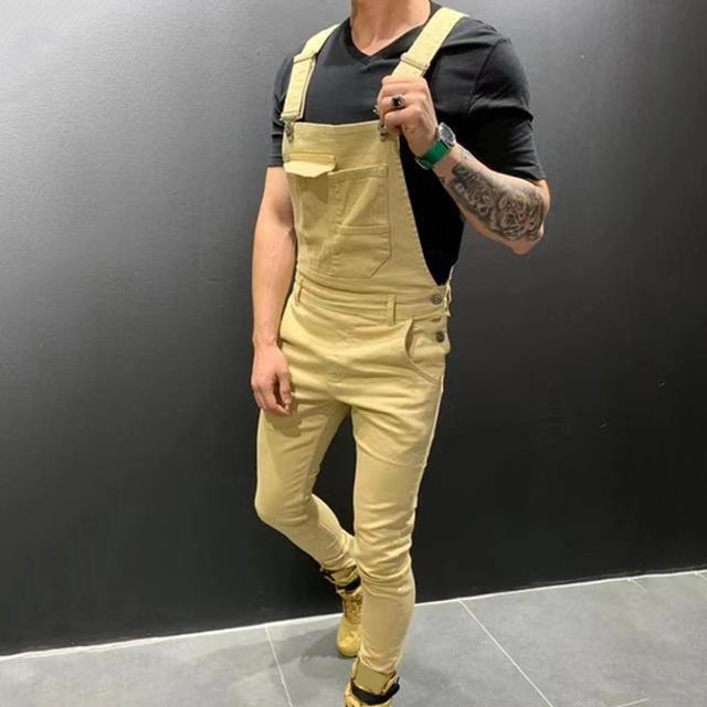 NEW Fashion Solid Color Overall Jumpsuit 8