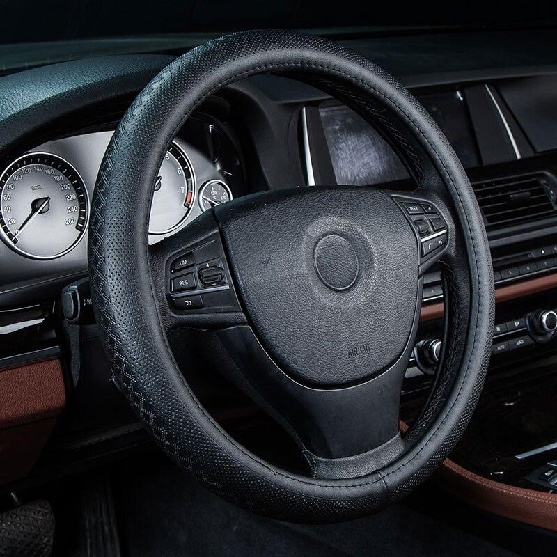 Volante do carro capa de couro genuíno acessórios para ford taurus sho thunderbird trânsito conectar windstar