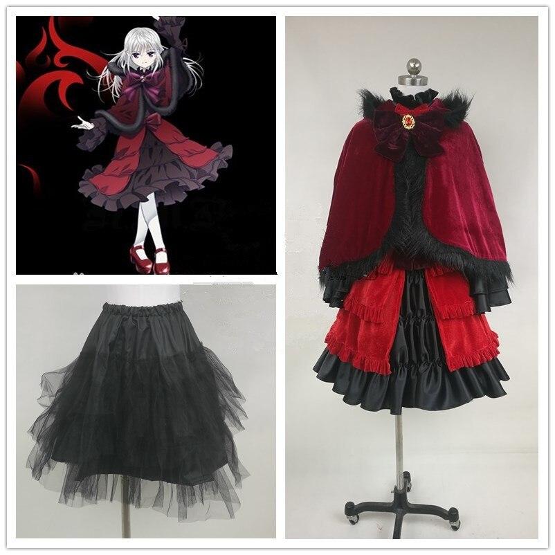Anime K (la segunda temporada) Kushina Anna Cosplay trajes rojo Lolita vestido adulto Unisex fiesta ropa de juego de rol personalizado