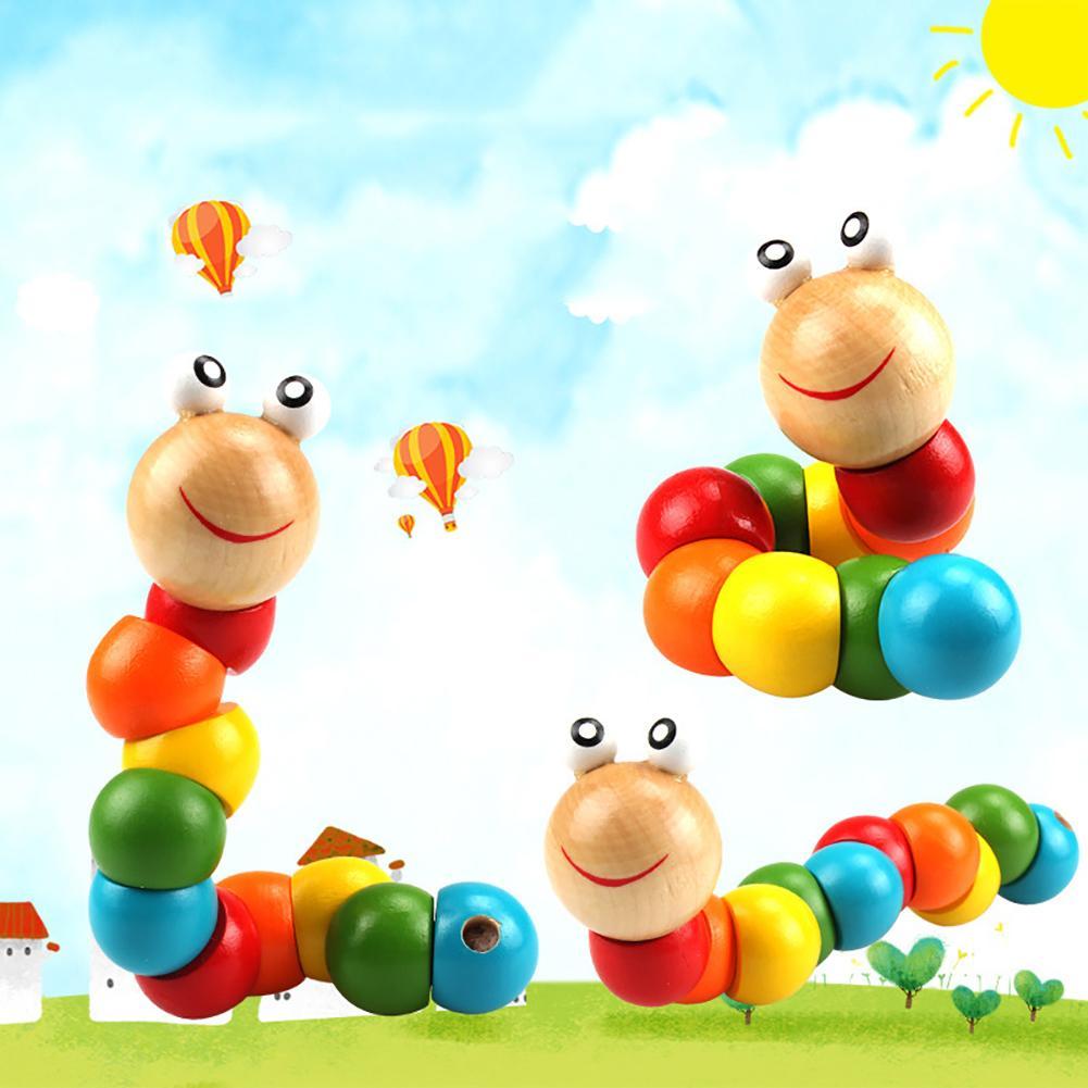 Красочные деревянные червь головоломки для детей раннего обучения образовательная игрушка на палец игра головоломки игры интерактивные и...