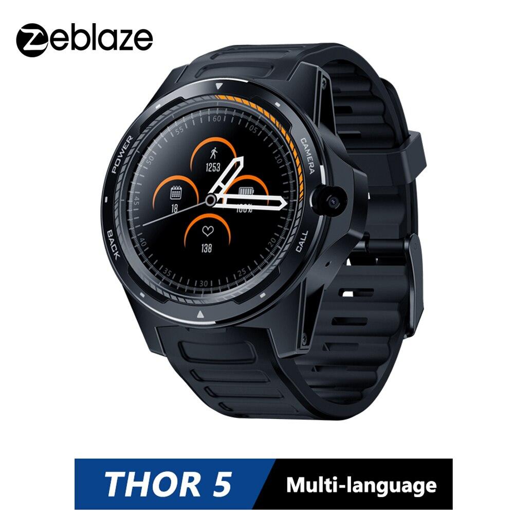 2gb + 16gb Recente Zeblaze Thor Sistema Duplo Híbrido Smartver 1.39 Aomled Tela 454*454p x 8.0mp Câmera Frontal Relógio Inteligente Telefone 5