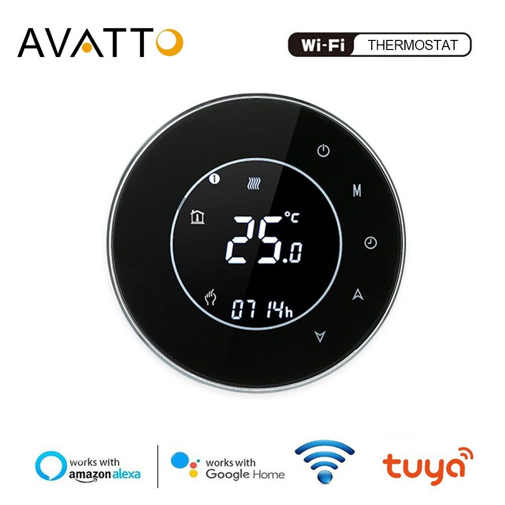 AVATTO تويا WiFi الذكية ترموستات ، الكهربائية الطابق التدفئة المياه/الغاز المرجل درجة الحرارة عن بعد تحكم العمل مع جوجل المنزل