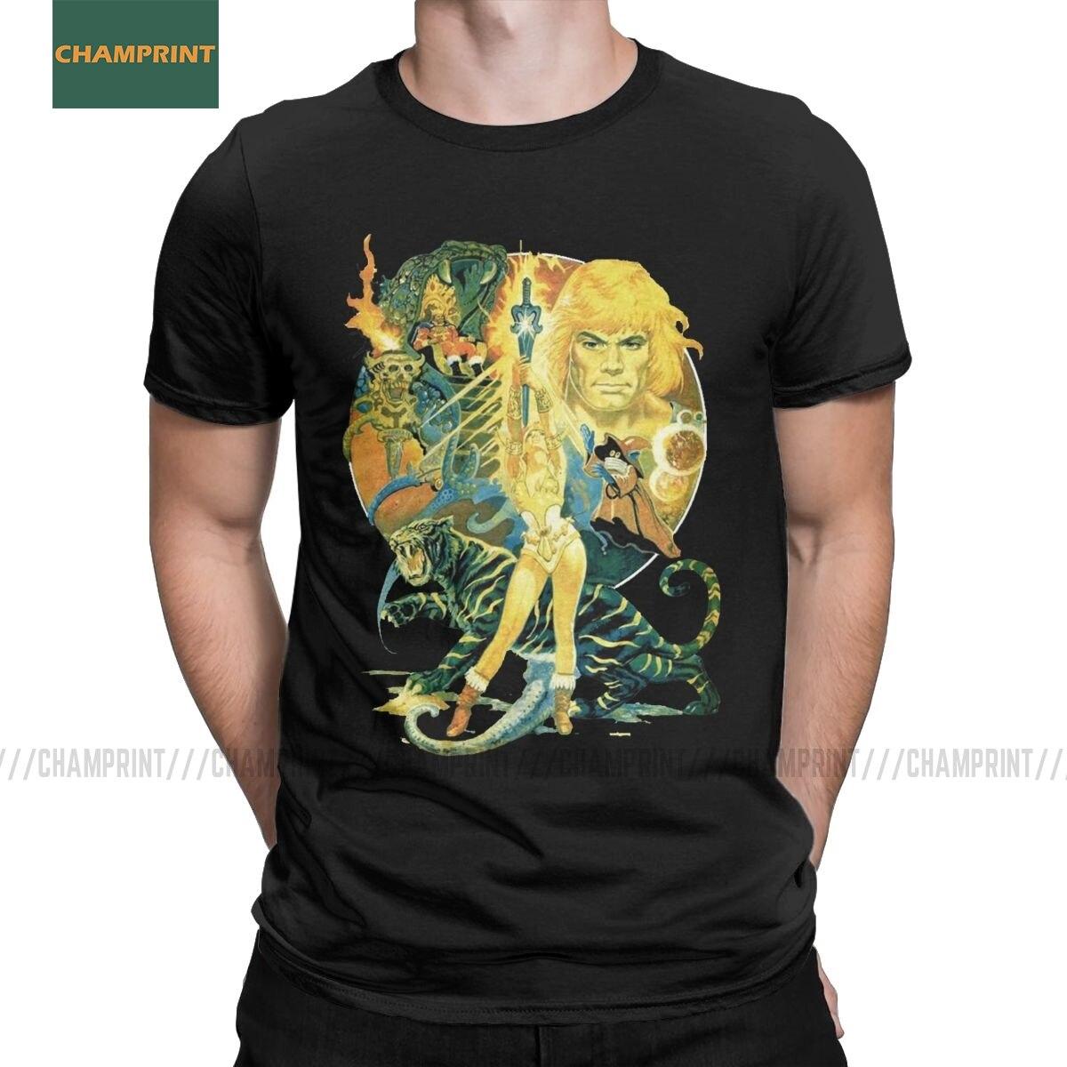 Secret Of The Sword он-человек мастера Вселенной футболки Для мужчин's футболка скелетор 80s она-ра зверь Футболка короткий рукав большой Размеры