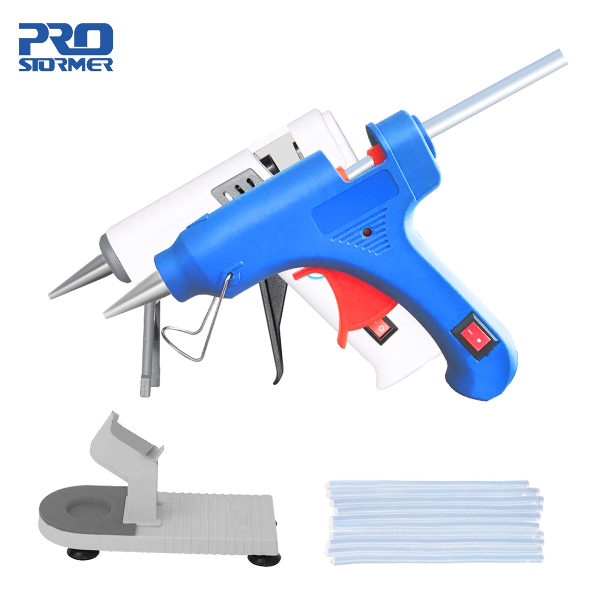 20W High Temp Heater Melt Hot Glue Gun Home DIY Repair Tool EU Use 7mm Glue Sticks Optional Base Hea