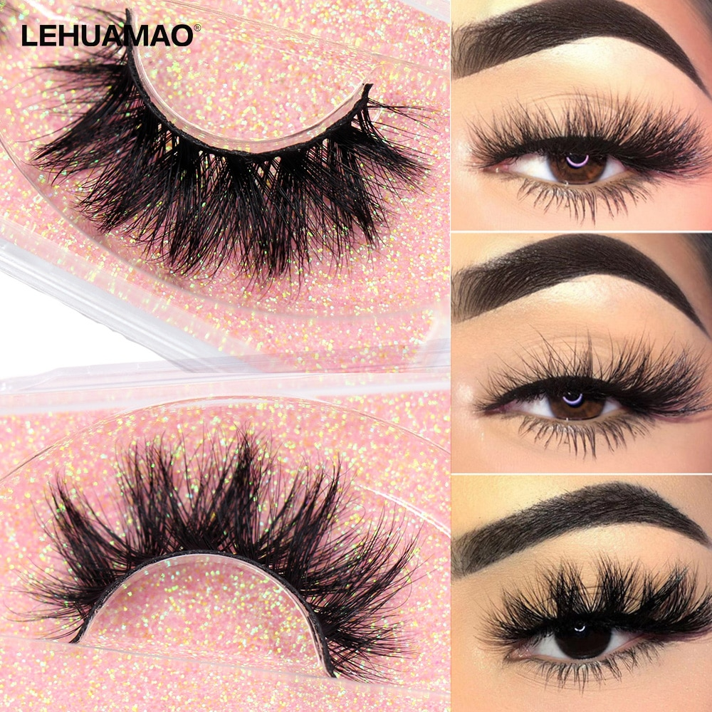 LEHUAMAO 5D Mink Eyelashes Long Lasting Mink Lashes Natural Dramatic Volume Eyelashes Extension Thick Long 3D False Eyelashes недорого