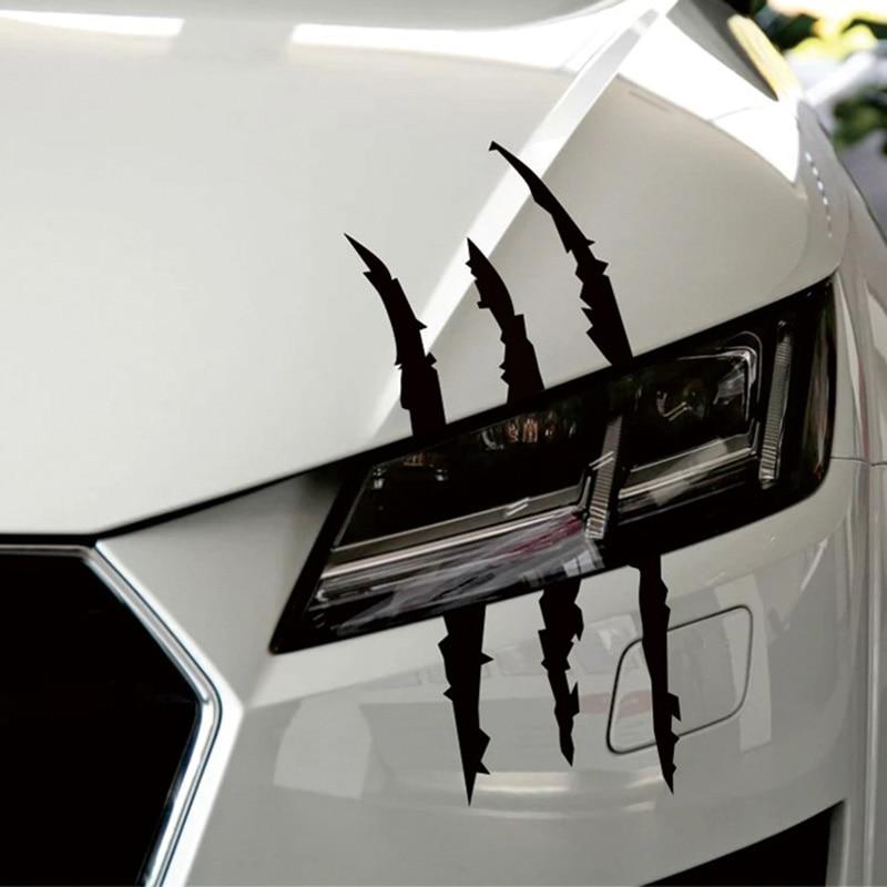 Car Styling Stickers Scratch Stripe Headlight Decal For Audi A3 A4 B7 B8 B6 A6 C6 C5 Q5 Q7 Nissan Qashqai Juke X-trail T32