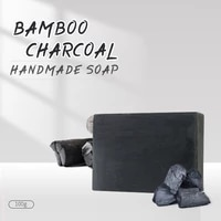 bamboo charcoal handmade soap essential oil soap cleansing blackheads oil control facial bamboo soap bath soap anti acne soap