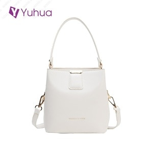 Yuhua, 2020 new fashion handbags, vintage simple korean version shoulder bag, trend woman messenger bag, casual women bucket bag