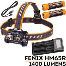 Fenix HM65R 1400 Lumens double Sources lumineuses Tri-preuve lampe frontale en magnésium pour les activités de plein air de longue durée et de haute intensité