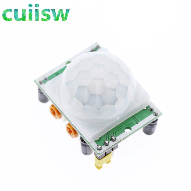 10 piezas HC-SR501 ajuste IR piroeléctrico infrarrojo PIR Sensor de movimiento módulo Detector