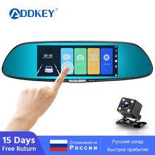 ADDKEY-écran tactile de 7 pouces pour voiture   Caméra DVR, 1080P, caméras de voiture à double objectif, vision des oreilles, boucle de miroir, enregistrer voiture, enregistreur de voiture, Dash cam