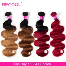Recool Körper Welle Ombre Haar Bundles 1B 27 30 Rot Burgund Honig Blonde Bundles Menschenhaar-verlängerung Remy Brazilian Haar bundles