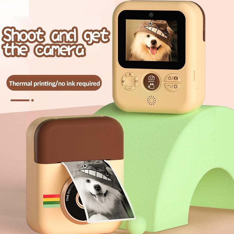 Câmera para Aniversários Câmera de Impressão com Papel Crianças Imprimir Câmera Mini Digital Instantânea Brinquedos Presente Criança Impressão Térmica