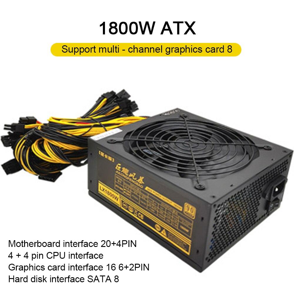 JULONGFENGBAO1800W PSU التعدين امدادات الطاقة النشطة PFC ATX ETH Asic بيتكوين امدادات الطاقة تحويل التيار الكهربائي