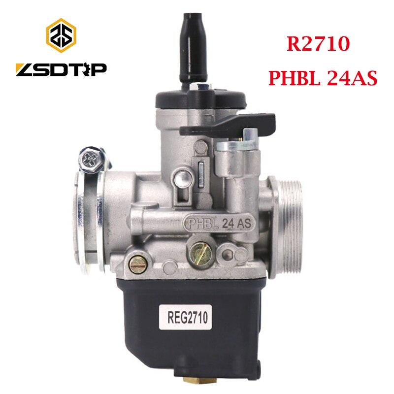 ZSDTRP R2710 Dellorto PHBL 24AS 4 السكتة الدماغية المكربن فيسبا 50S PK لقط الكربوراتور