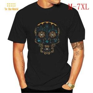 Skull plus Size T-shirt Men Kpop Clothes Oversized Mens Clothing Tshirtlashion Retro Shirt Fashion 2020 Summer Man Funny