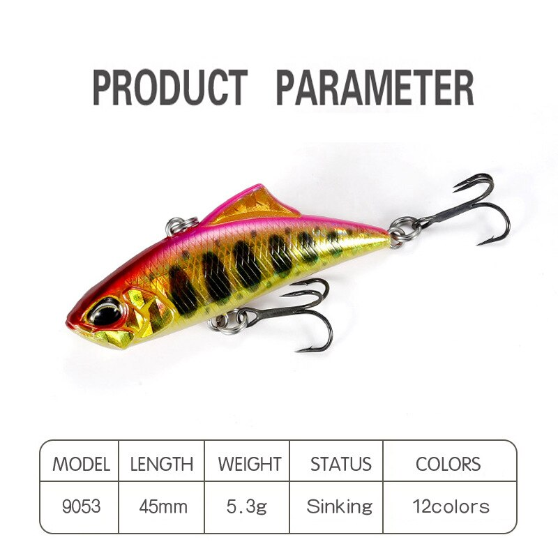 45mm 5.3g Small VIB Spinning for Fishing Lures Vibration Freshwater Fishing Baits 9053 enlarge