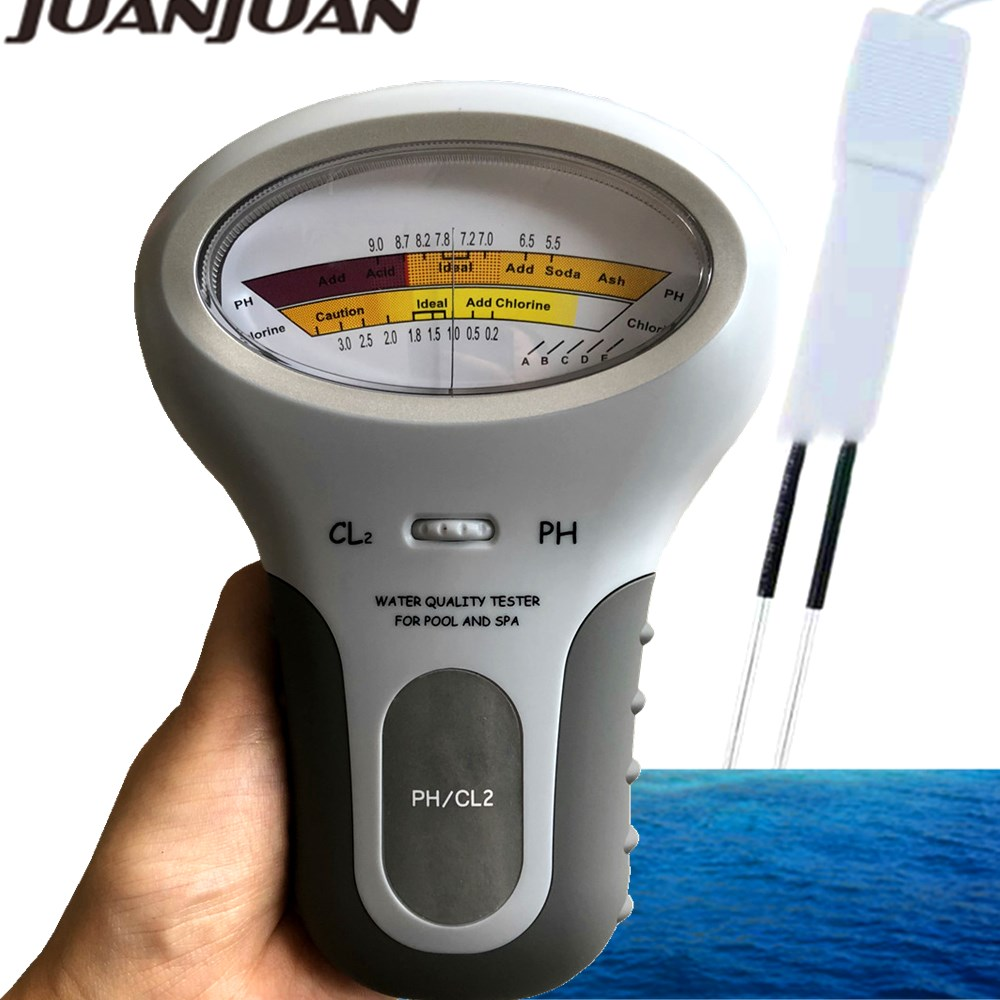 PC-101 Chlorine Meters PH Tester PH & Chlorine 2in 1 Testers Water Quality Testing Device CL2 Measuring For Pool Aquarium 30%