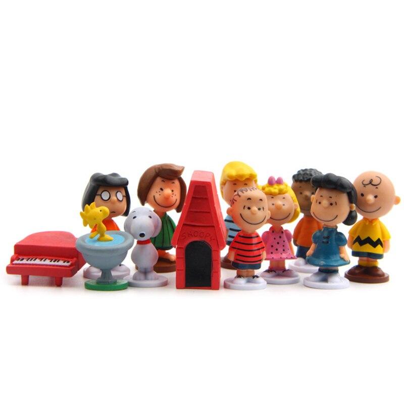 10 fotos muñeca de dibujos animados PVC figura de acción modelo coleccionable para el mejor regalo de cumpleaños con caja