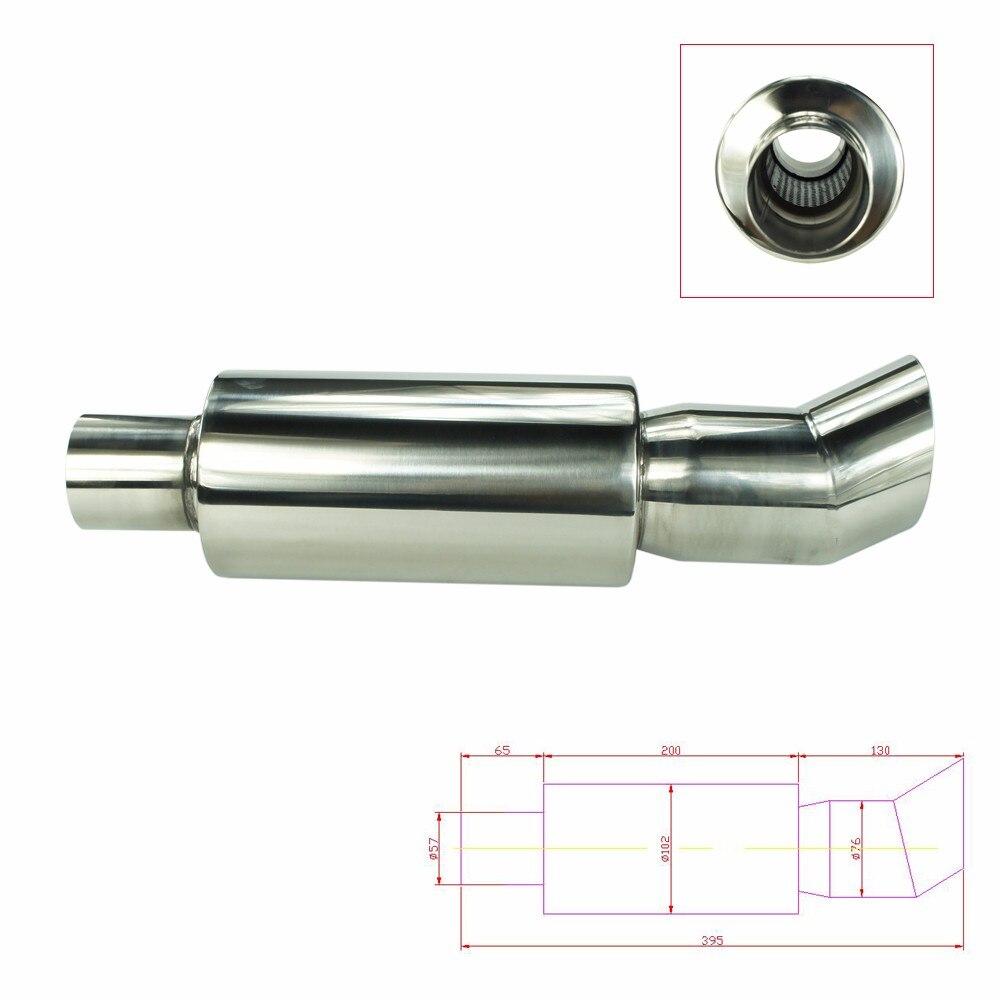 2.25 57 57 Polegada 57mm ponta silenciador do escape do carro tubo de aço inoxidável cromo cauda silenciador ponta tubo
