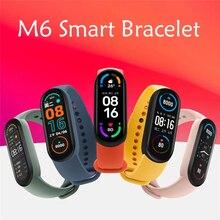 2021 New M6 Smart Watch Men Women Smartwatch Blood Pressure Heart Rate Monitor Sports Bracelet For A
