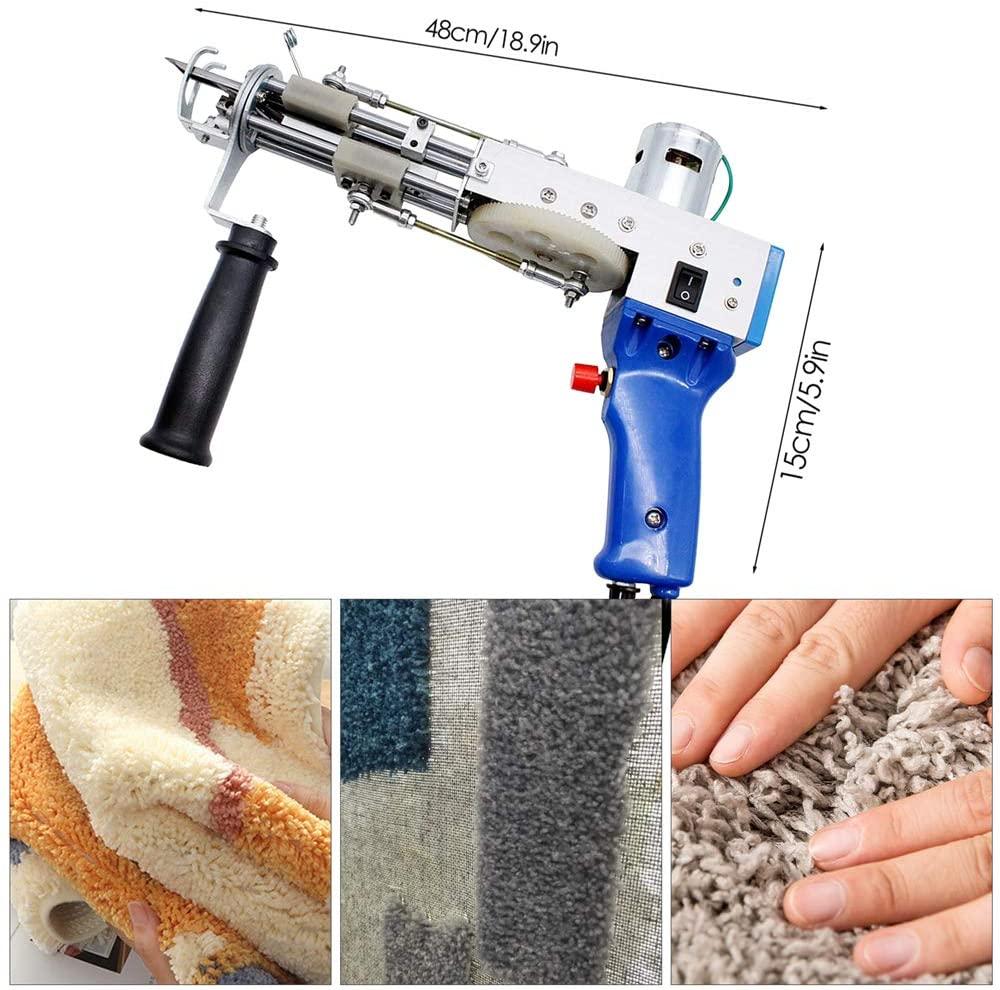 2 In 1 Tufting Gun Electric Carpet Rug Guns Carpet Weaving Knitting Machine Cut Pile Loop Pile DIY Knitting Crochet Tufting gun enlarge