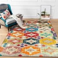 fashion european style rug geometric striped panel flower carpet living room bedroom bed blanket bathroom kitchen floor mat