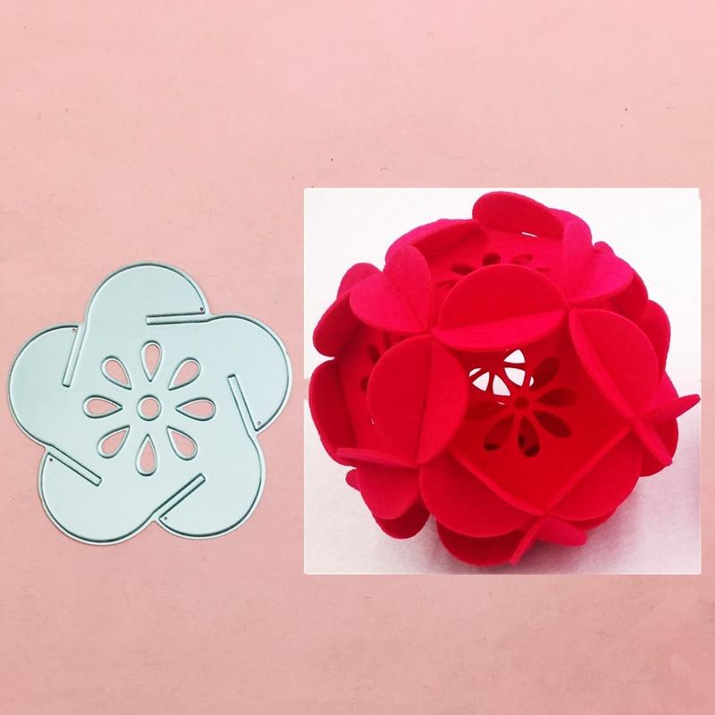 Troqueles de corte de Metal con esfera Circular de flores, plantillas para...