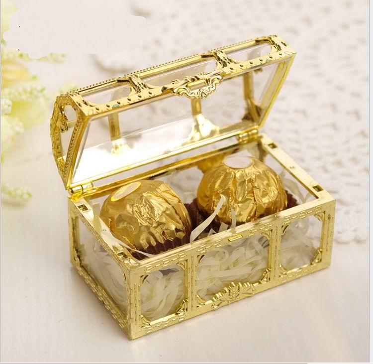 صندوق تخزين الكنز الإبداعي ، بلاستيك ، ذهبي ، فضي ، شوكولاتة ، حلوى ، زينة الزفاف ، لوازم الحفلات والمناسبات ، 200 قطعة.