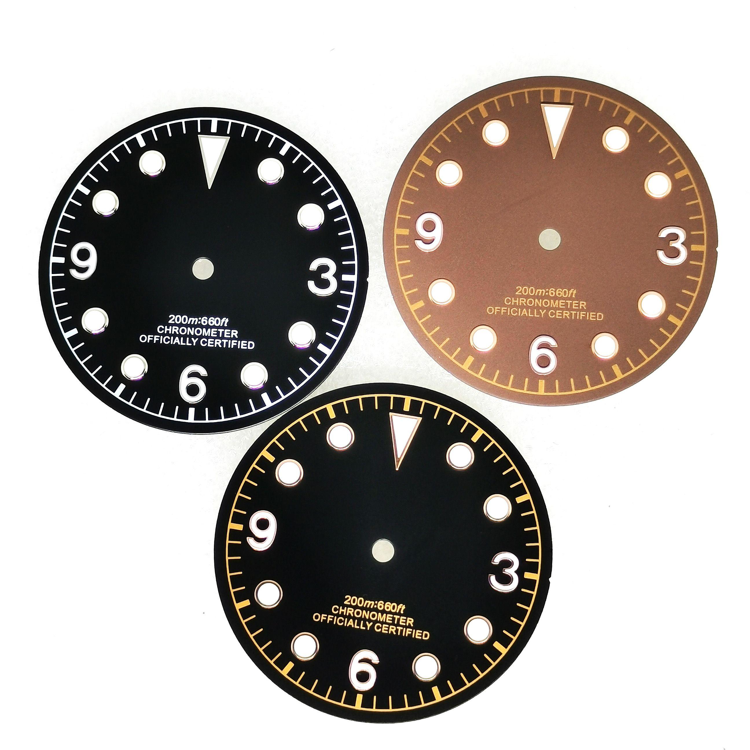Relógio do Homem Novo Parte Mostrador Luminoso Caber Miyota 8215 8200 Eta 2836 2824 2892 St16 St2130 Mingzhu 2813 Movimento Automático 30mm