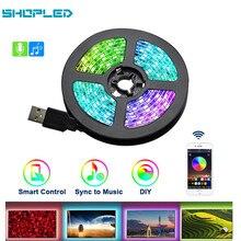 SHOPLED USB Led Streifen Licht DC 5V Flexible LED Licht Band Band 0,5 M 1M 2M 3M HDTV TV Desktop Bildschirm Hintergrundbeleuchtung Beleuchtung Lampe