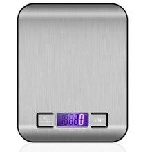 Balança de cozinha de aço inoxidável eletrônico pesando 5 kg 10 kg escala de cozinha do agregado familiar alimentos mini gram escala jóias disse